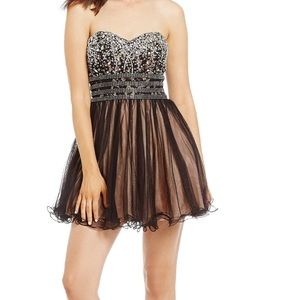 blondie nites dresses  new beaded corset fit flare dress